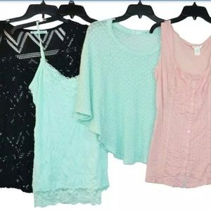Maurices 4 Pc lot Shirts Tops Large